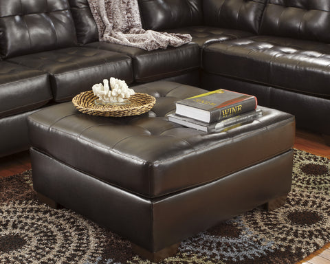 Alliston DuraBlend Contemporary  Chocolate Color Faux Leather Oversized Accent Ottoman