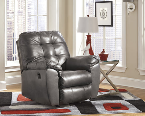Alliston DuraBlend Contemporary  Gray Color Faux Leather Rocker Recliner