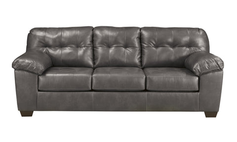 Alliston DuraBlend Contemporary  Gray Color Faux Leather Sofa