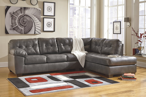 Alliston DuraBlend Contemporary  Gray Color Faux Leather Sectionals Sofa
