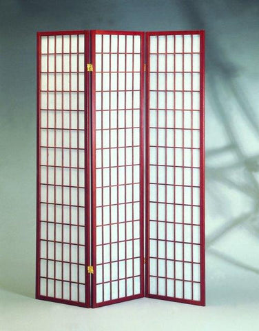 3 Panel Cherry Oriental Shoji Screen / Room Divider