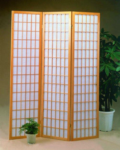 3 Panel Natrual Oriental Shoji Screen / Room Divider