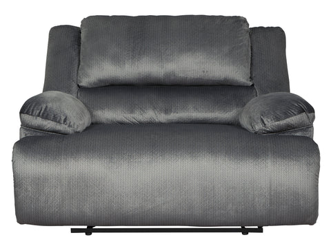 Terrific Clonell Contemporary Charcoal Microfiber 2 Seat Power Reclining Sofa Loveseat And Chair Gamerscity Chair Design For Home Gamerscityorg