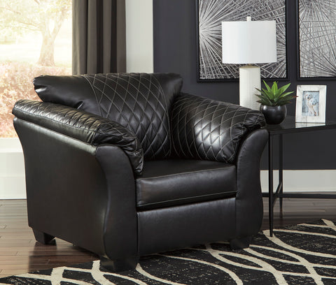 Arlon Contemporary Black Faux Leather Accent Chair
