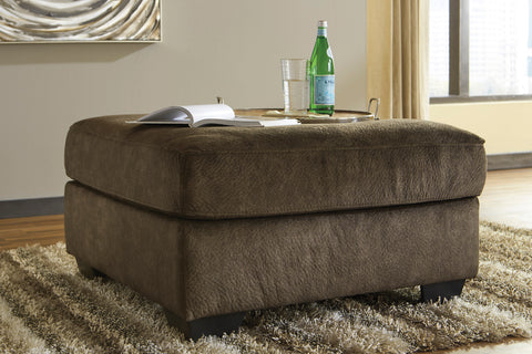 Accrington Contemporary Earth Color Padded Microfiber Oversized Accent Ottoman
