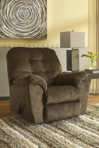Accrington Contemporary Earth Color Padded Microfiber Rocker Recliner