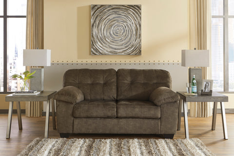 Accrington Contemporary Earth Color Padded Microfiber Loveseat