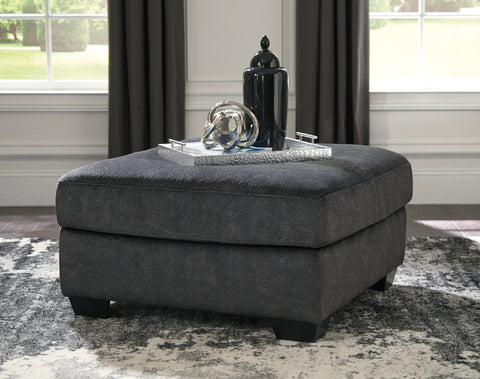 Accrington Contemporary Granite Color Padded Microfiber Oversized Accent Ottoman