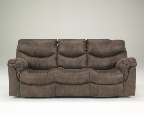 Alzena Contemporary Gunsmoke Faux-leather Reclining Sofa
