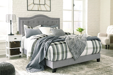 Ares Gray Tufted Upholstered Bed, Queen
