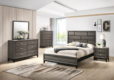 13cac0cb6 Stout Panel King Size Bedroom Set with Bed, Dresser, Mirror, Night Sta –  Furnituremaxx