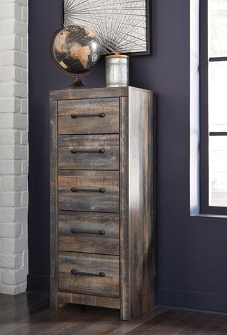 Ararat Rustic 5-Drawer Wood Narrow Chest