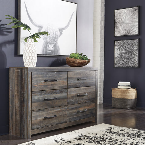 Ararat Rustic 6-Drawer Wood Dresser