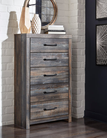 Ararat Rustic 5-Drawer Wood Chest