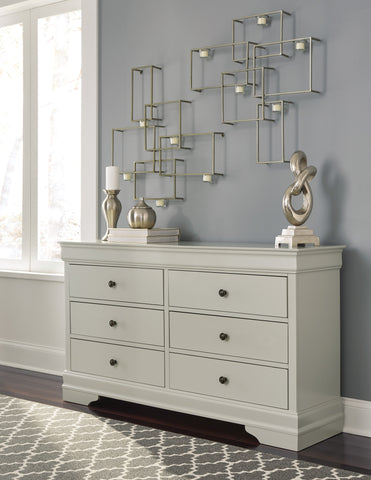 Ararat Louis Phillippe Style Dresser in Light Gray