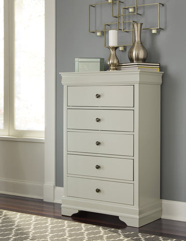 Ararat Louis Phillippe Style Chest in Light Gray