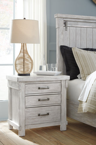 Bashlan Casual White Color Wood Three Drawer Night Stand