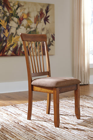 Berring Rustic Brown Dining Side Chairs, Set of 2