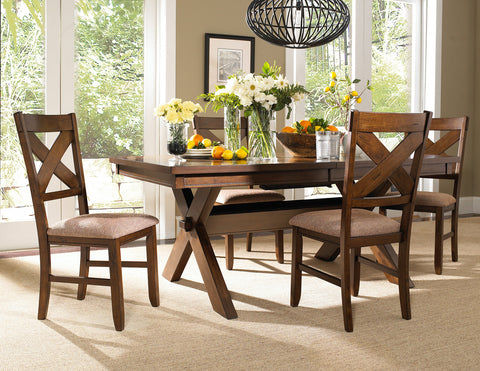 5 PC Karven Solid Wood Dining Set   Table w/ 4 Chairs
