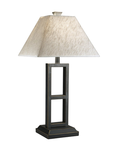 Black Metal Table Lamp, Set of 2