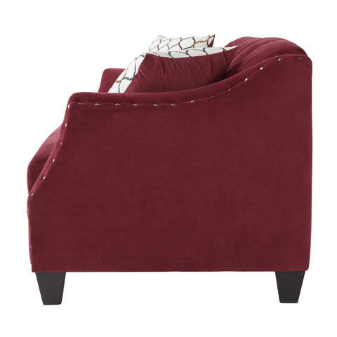 Moselle Transitional Modern Velvet Tufted Sofa with Nainhead Trim ...