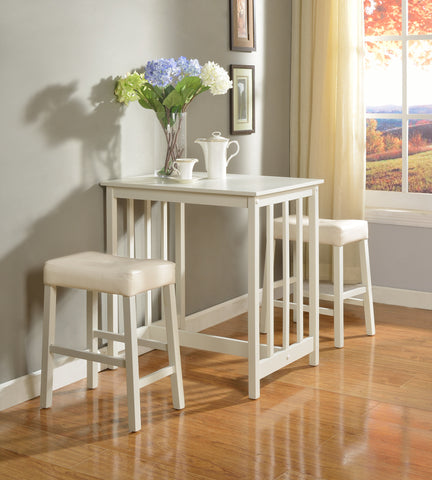3-Piece Counter Height Dining Set with Saddleback Stools