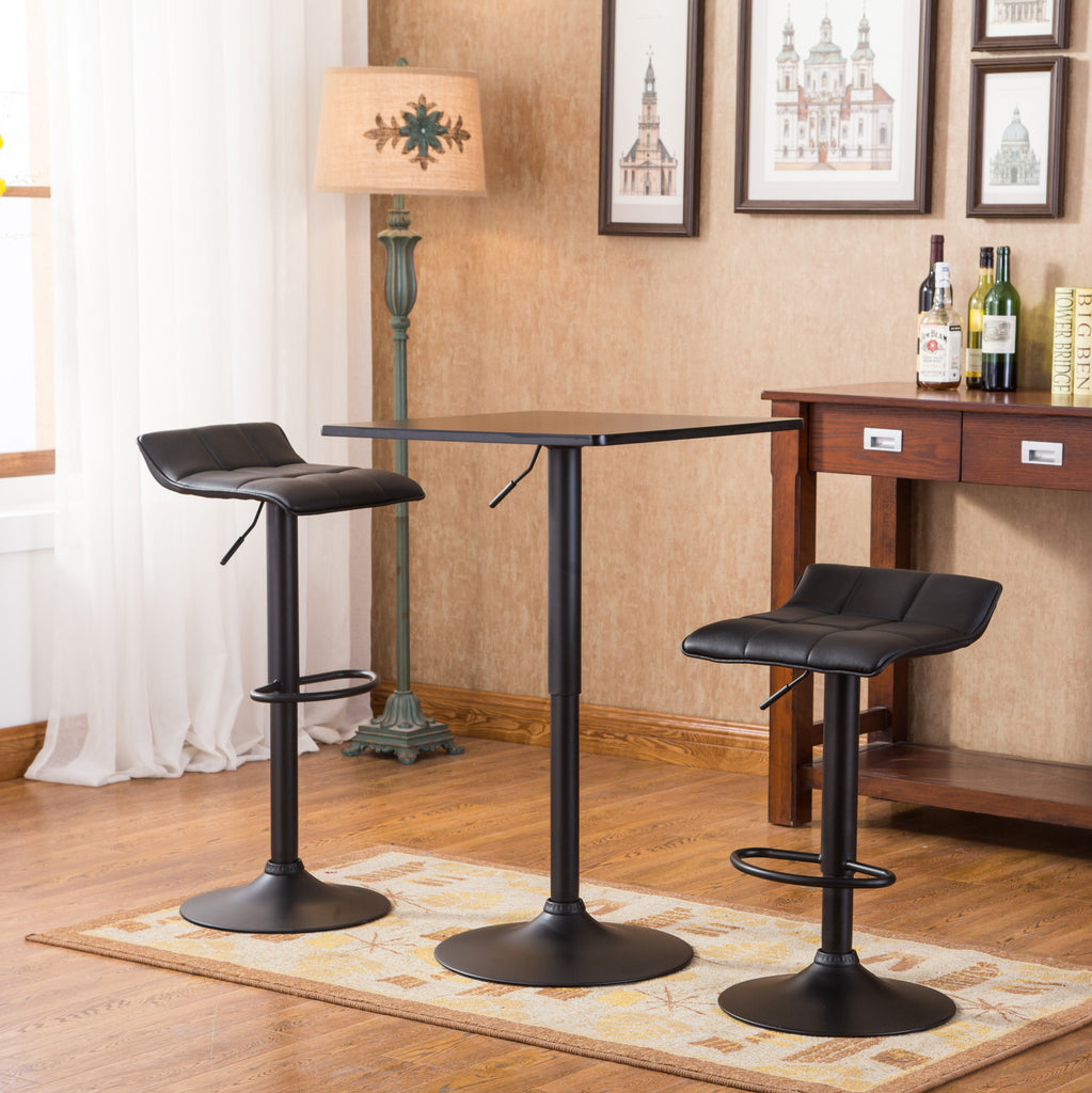 Belham Black Square Top Adjustable Height with Black Leg And Base ...