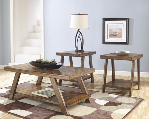 Bradton Burnished Brown Occasional Table Set, 3PC