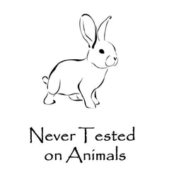 We never test anything on animals