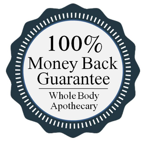Whole Body Apothecary Authentic Organic Soap is backed by a 100% money back gurantee