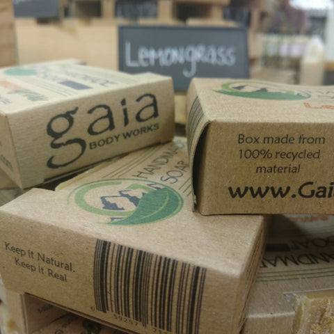 Compostible Soap Packaging Gaia Body Works Natural Skin Care