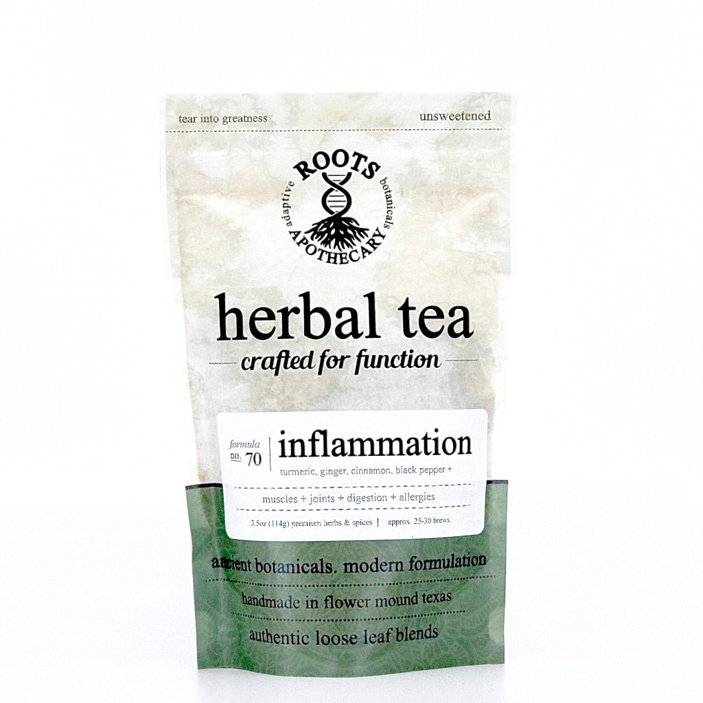 Herbal Tea - Inflammation Tea - adaptogenic loose leaf tea blend for stress and inflammation
