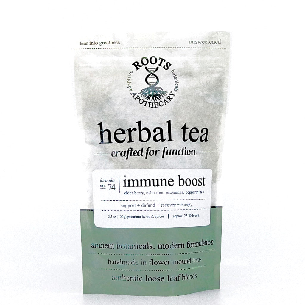 Herbal Tea - Immune Boost Tea - organic loose leaf tea. elder berry. adaptogenic blend