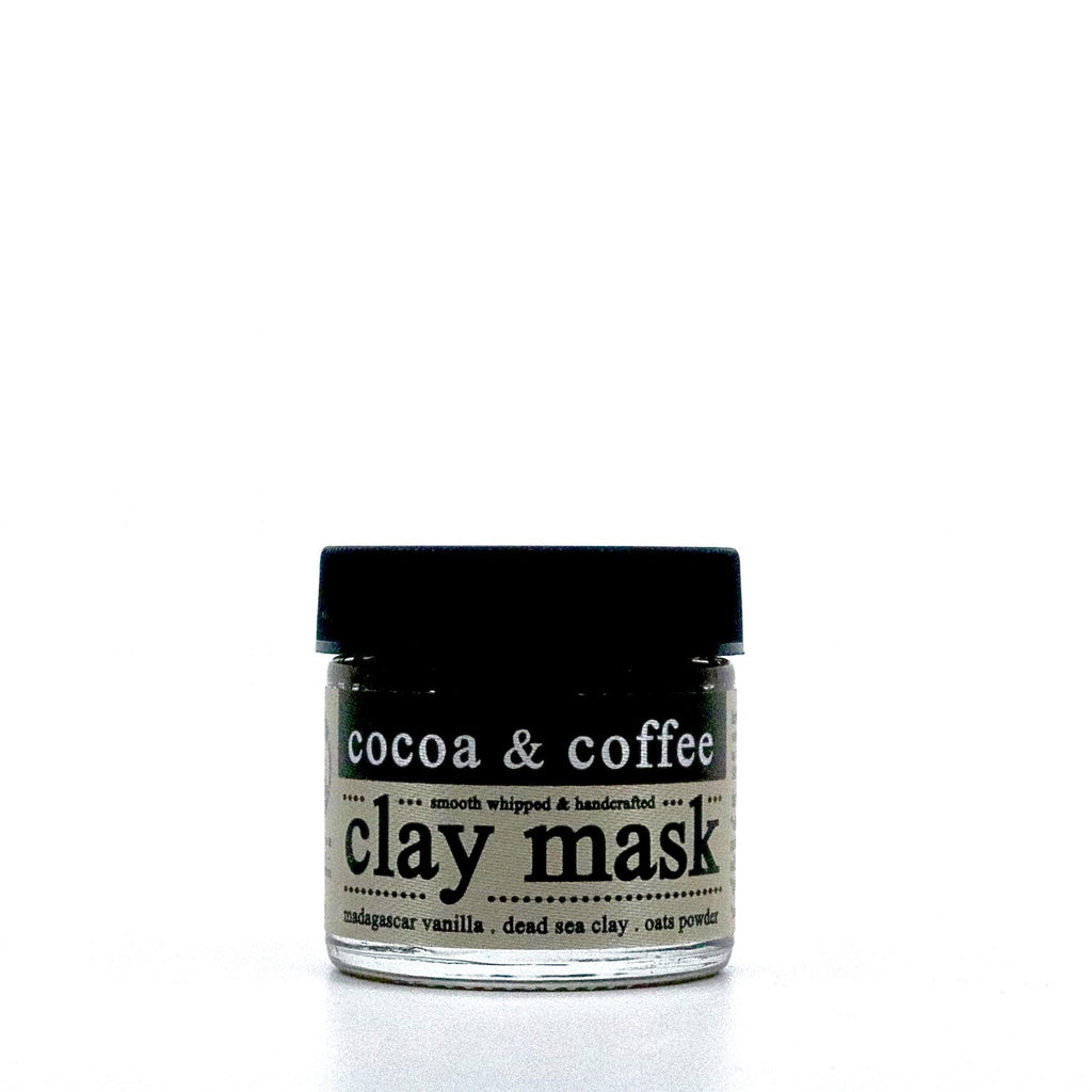 organic cocoa and coffee clay mask