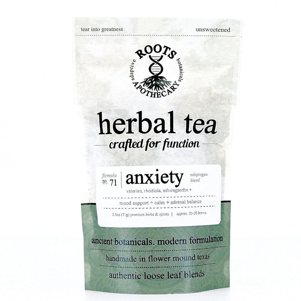 herbal tea - organic herbs for stress. organic herbal tea for anxiety.