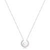 Cultured Freshwater Pearl Pendant With Sparkle Surround