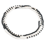 Gratia Classic Timeless Black & White Cultured Freshwater Pearl Rope Necklace