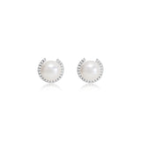 Stella Cultured Freshwater Pearl Stud Earrings With Sparkle Surround