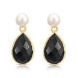 Clara Cultured Freshwater Pearl & Spinel Drop Earrings