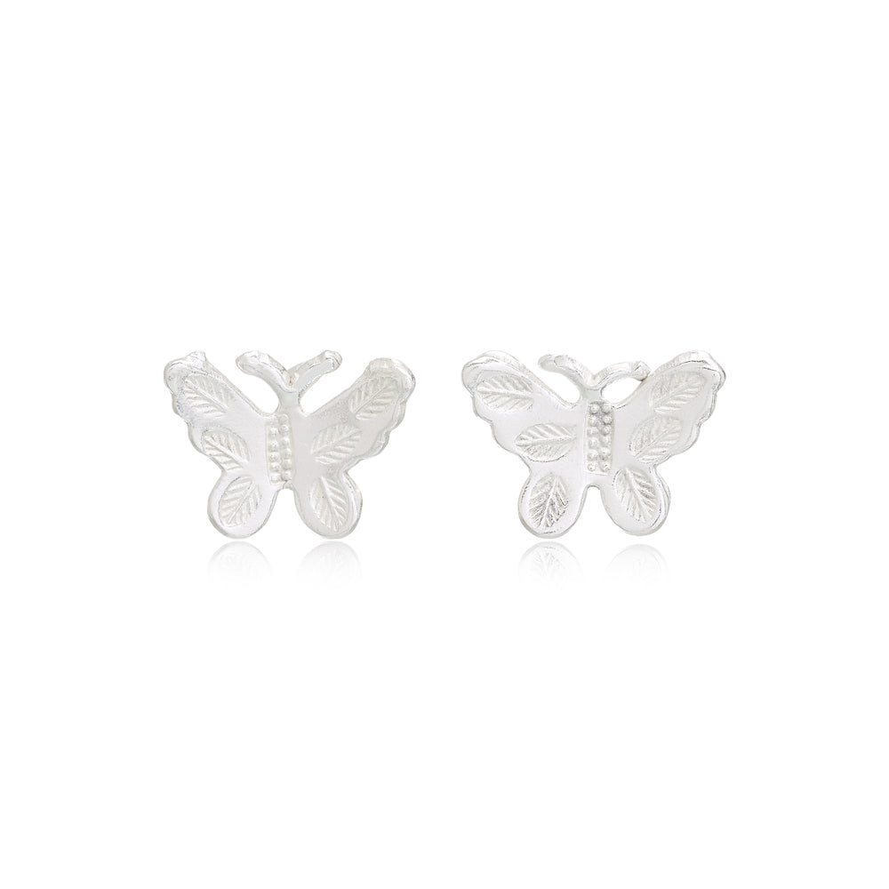 Vita Sterling Silver Butterfly Stud Earrings