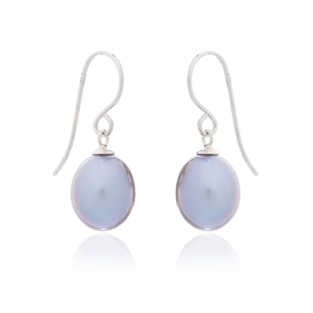 Gratia grey Teardrop Cultured Freshwater Pearl Earrings