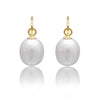 Grey Teardrop Cultured Freshwater Pearl Earrings