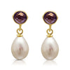 Amethyst & cultured freshwater pearl drop earrings