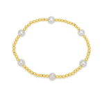 Credo Gold Colour Bead Bracelet With Cultured Freshwater Pearls