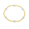 Gold Colour Bead Bracelet With Cultured Freshwater Pearls