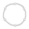 Silver Bracelet With Cultured Freshwater Pearls