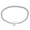 Sterling Silver Bracelet With Large Cultured Freshwater Pearl