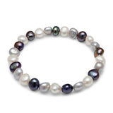 Margarita grey, black & white cultured freshwater pearl bracelet