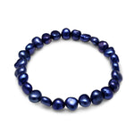 Margarita navy blue irregular-shaped cultured freshwater pearl bracelet