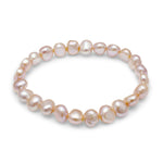 Margarita pink cultured freshwater irregular-shaped pearl bracelet